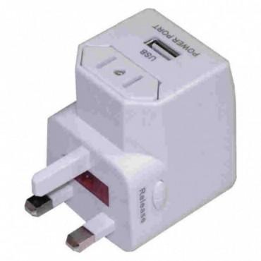 ADAPTADOR UNIVERSAL+CARGADOR USB AC-2331