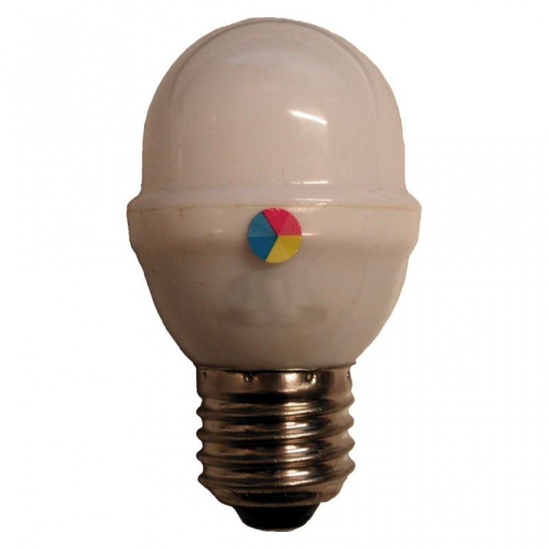 BOMBILLA LED ESFERICA RGB LEDEMN E27