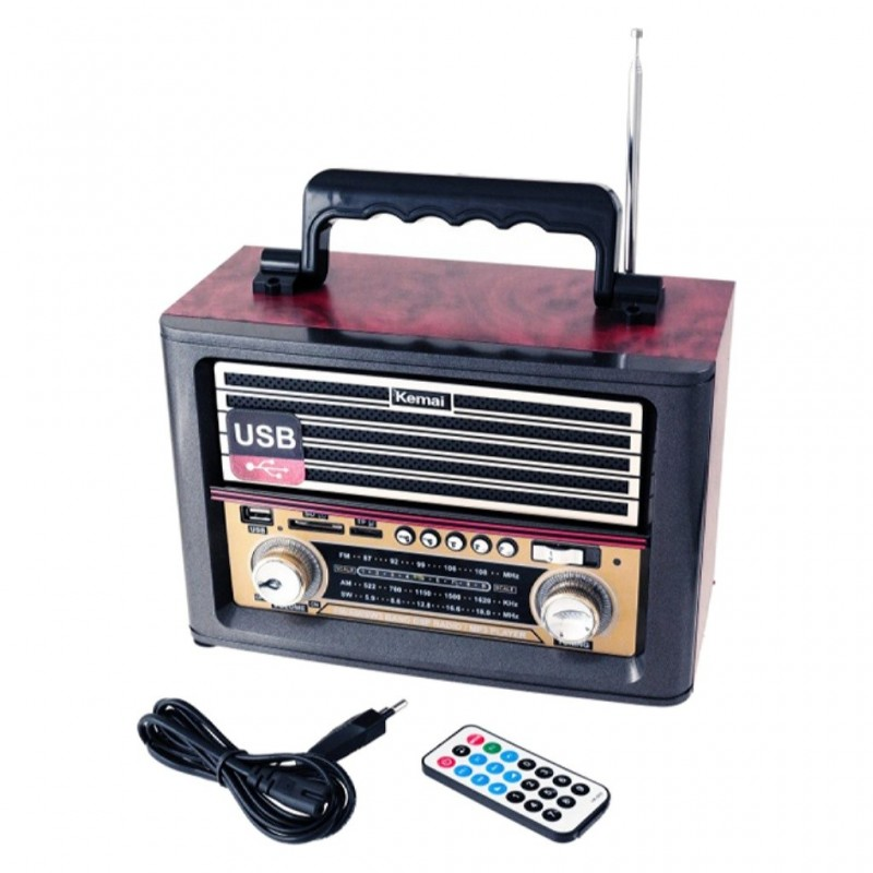 RADIO RETRO STEREO AM/FM/SW MP3 USB/SD/TF MD-1705