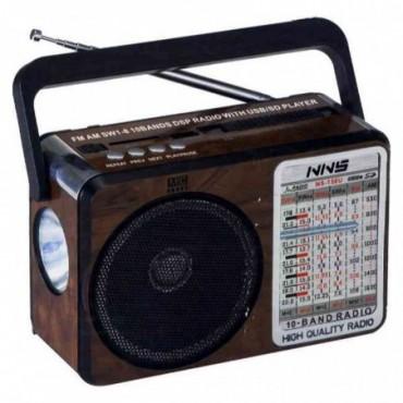 RADIO LINTERNA RETRO AM/FM/SW1-8 MP3 USB/SD/MMC NS-158
