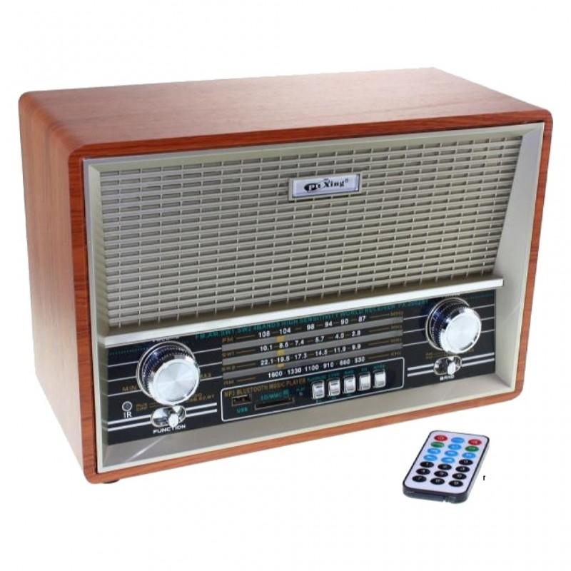 RADIO RETRO MADERA PX-2002-BT