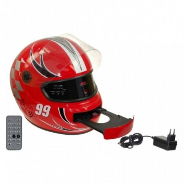 RADIO CD USB CASCO R-8004 ROJO