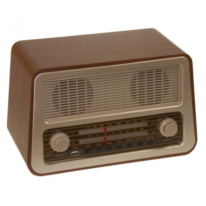 RADIO RETRO MADERA RM-7985