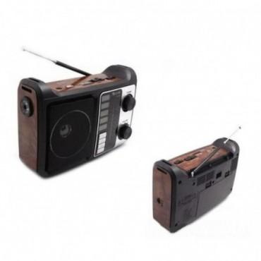 RADIO LINTERNA RETRO AM/FM/SW1-2 MP3 USB/SD/PC LINK RX-333-B
