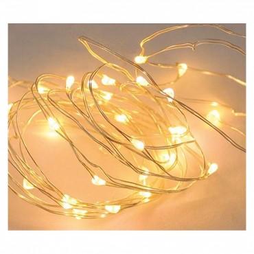 Guirnaldas 20 luces led a pilas calidas a02103 - Luces led calidas ...