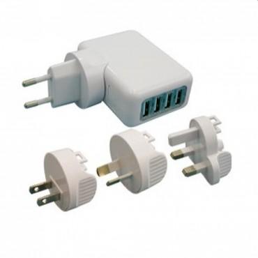 CARGADOR DE VIAJE UNIVERSAL USB AC-8514
