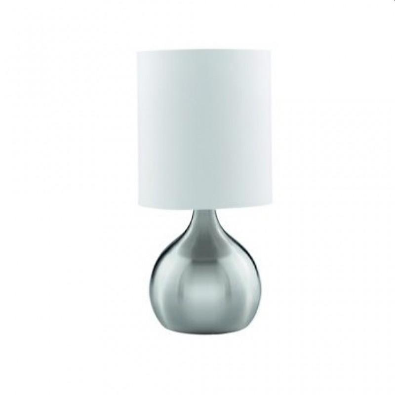 LAMPARA SOBREMESA E-3923-S NIQUEL MATE